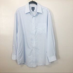 Jos. A. Banks Blue Checked Dress Shirt Sz 16-33